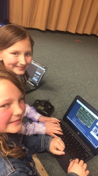 Madison and Gentry liked working on the chromebook.
