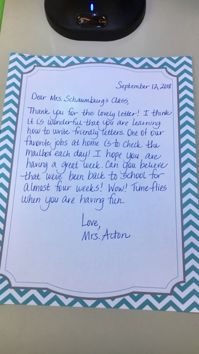Mrs. Acton wrote us back!