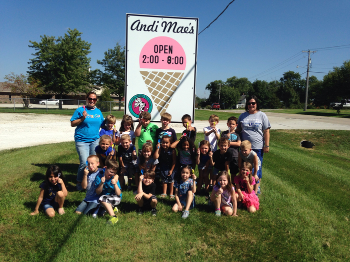 Ice cream fun at Andi Mae's