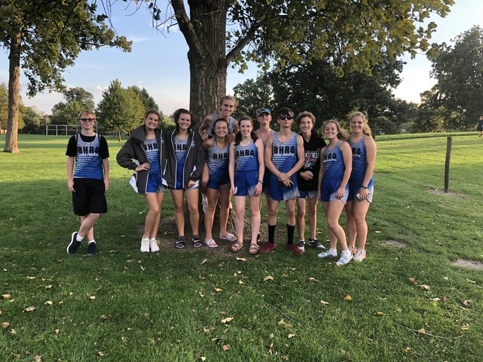 The cross country team after the VVC meet in Chrisman. Great work Blue Devils!