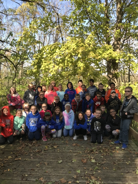 A group photo at Outdoor School!