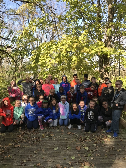 Group photo at Outdoor School!