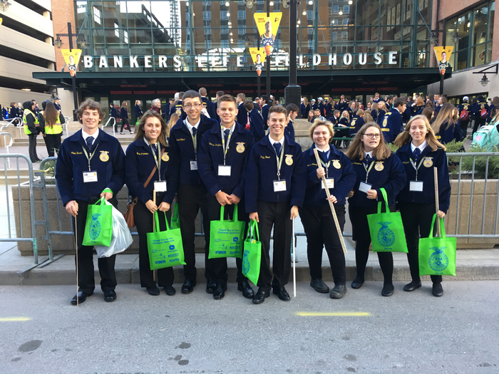 Our representatives at the National FFA Convention joining over 60,000 others in Indianapolis.