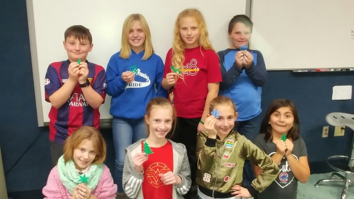 3D ornaments with our 3D printer.