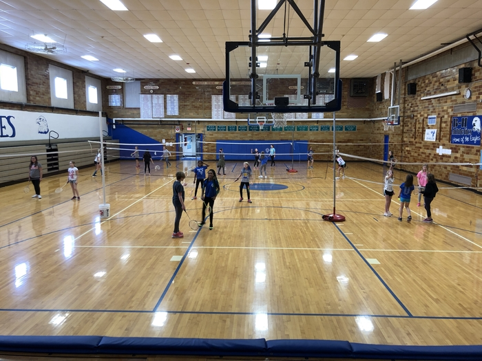 5th grade students started their badminton tournaments this week.