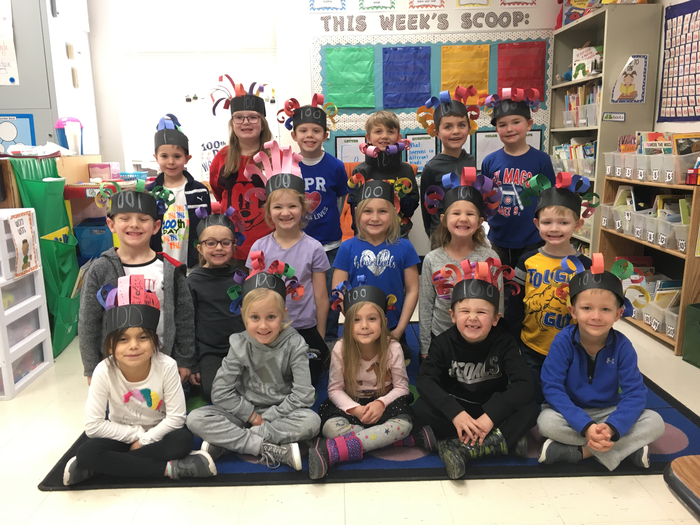 We loved making 100 day hats to celebrate!