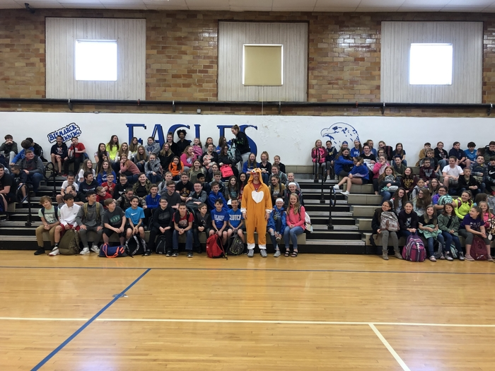 BHJH has been fundraising for the Danville Humane Society. This week's drive ended in Mr. Packard wearing this dog outfit today!