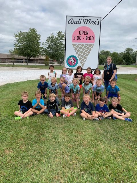 First grade enjoyed their field trip today to Andi Mae's.