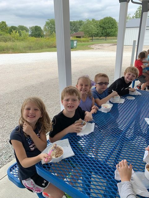 First grade enjoyed their ice cream today!