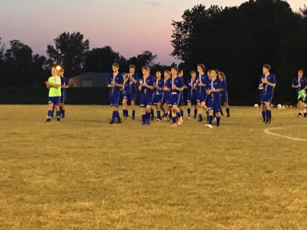 Congratulations to the soccer team for their big victory over Georgetown Ridge Farm Westville last night in Rossville.