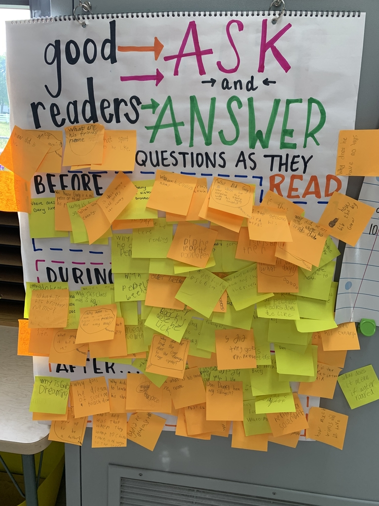 Today, Mrs. Heinrichs' class practiced asking and answering questions, like good readers do! They had a blast and had many questions about our story!